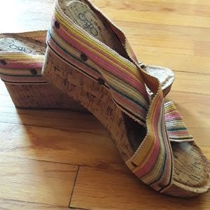 Women's size 10 cork wedges